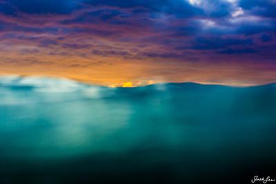 sunset tropics