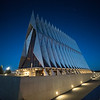 United States Air Force Academy Cadet Chapel in the Blue Hour # 3