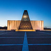United States Air Force Academy Polaris Hall in the Blue Hour # 4