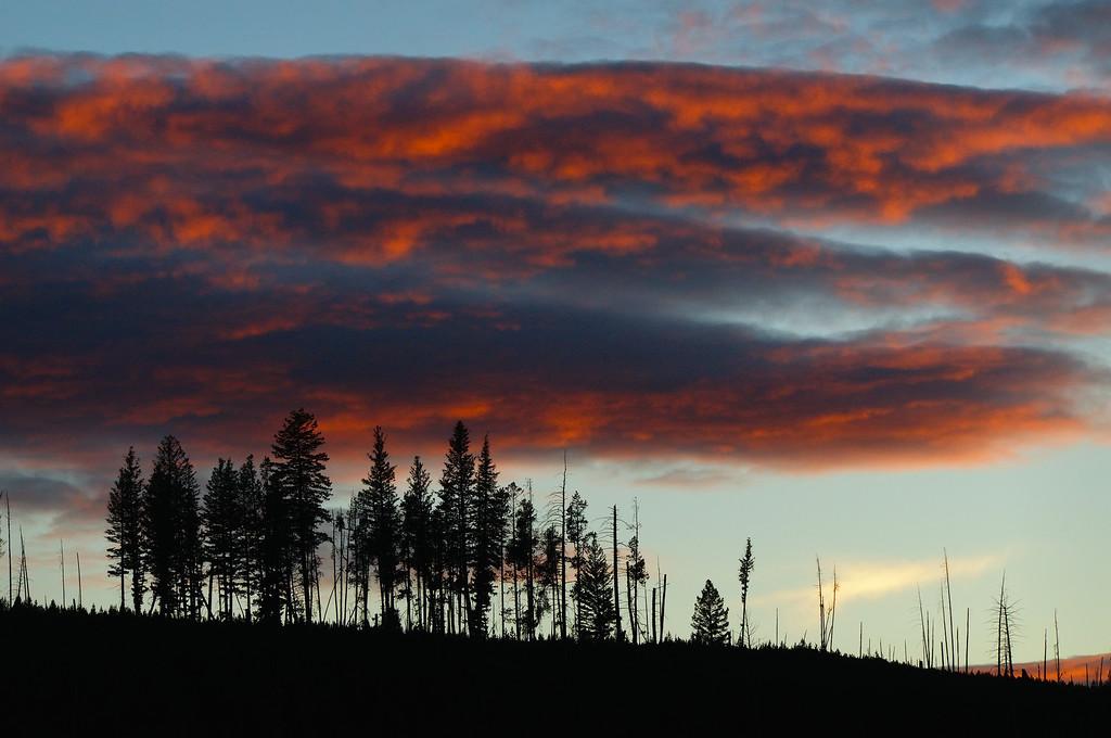 Yellowstone on fire