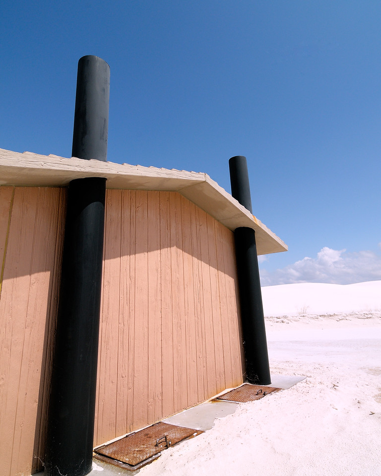 White Sands outhouse