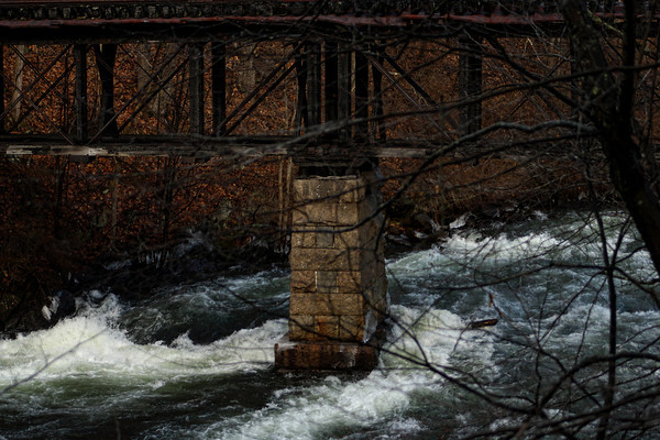 Upside Down Bridge along the Winnipesaukee River Trail in Franklin, NH. New Years Day 2012