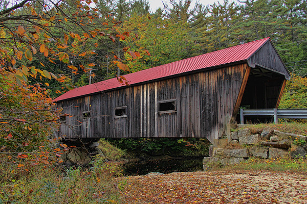 Dalton Covered Bridge, North Side,<br /> Warner, NH