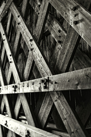 Ribs<br /> Railroad Covered Bridge,<br /> Hopkinton, NH