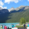 Tourists at Lake Louise