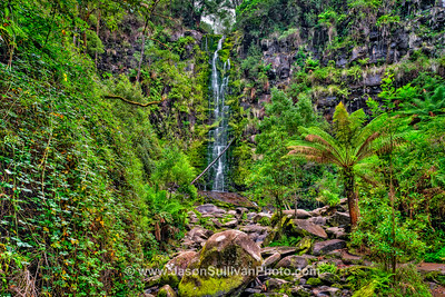 Green Waterfall Valley