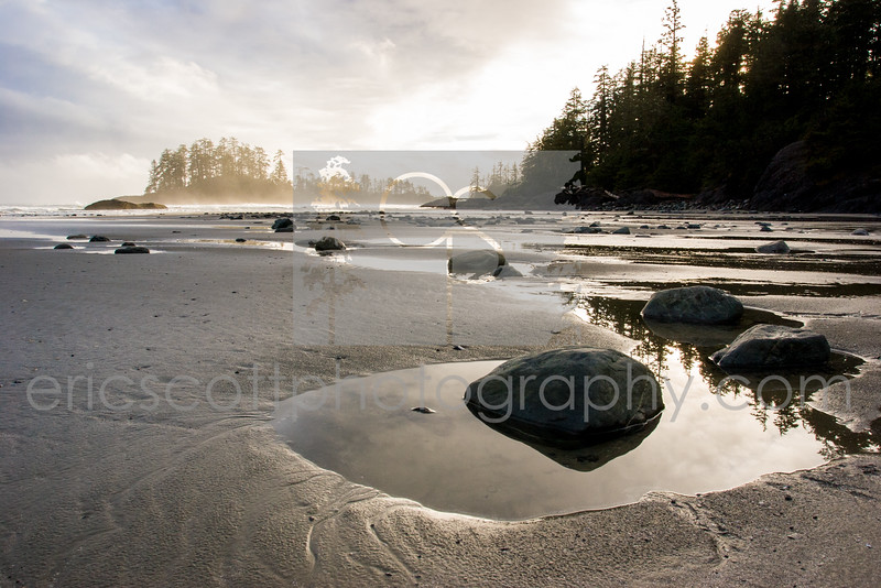 Schooner Cove, just north of Long Beach in the Pacific Rim National Park, near Tofino, BC.