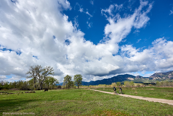 Runners walkers cyclists South Boulder Trail