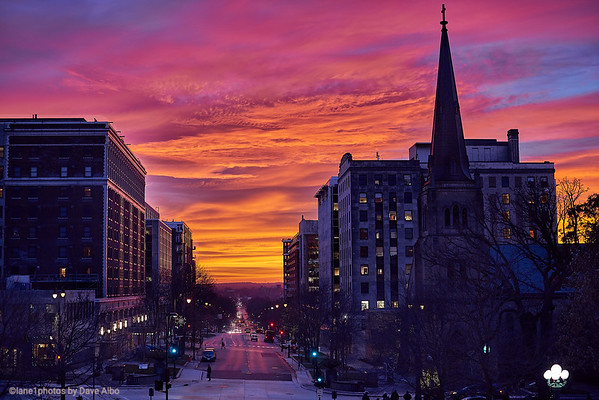 Sunset Downtown, Madison Wisconsin