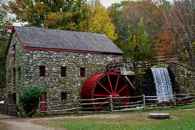 The Wayside Inn Grist Mill in Sudbury, Massachusetts