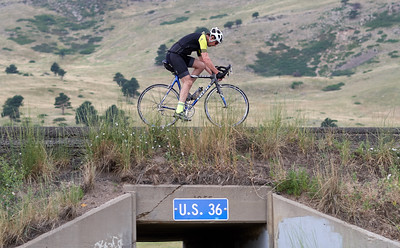 Bycyclist on US 36