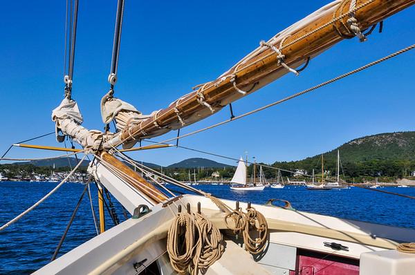 Schooner Sailing in Maine