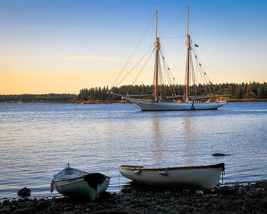 Schooner Sailing in Maine