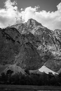 Bergmassiv im Tal westlich von Pertisau, Tirol, Österreich