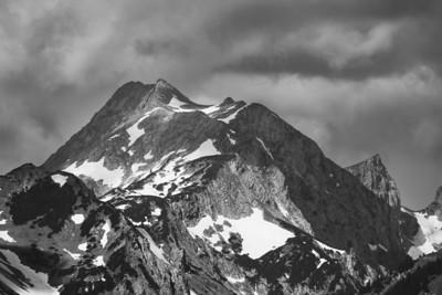 Berggipfel vom Pürschlinghaus aus gesehen, Bayern, Deutschland