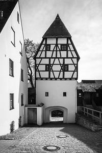 Turm am Kugelplatz, Donauwörth, Bayern, Deutschland