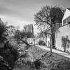 Altwasser der Wörnitz mit Stadtmauer, Donauwörth, Bayern, Deutschland