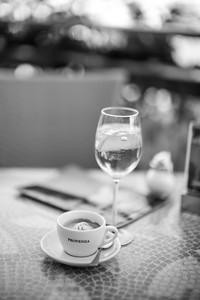 Espresso und Aperol-Spritz, Nürnberg, Mittelfranken, Bayern, Deutschland