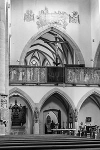 Franziskanerkirche, Rothenburg ob der Tauber, Mittelfranken, Bayern, Deutschland