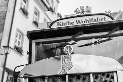 """""""Käthe Wohlfahrt"""" Bus, Rothenburg ob der Tauber, Mittelfranken, Bayern, Deutschland"""