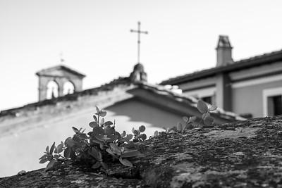 Stadteindrücke von Montisi und Umgebung, Montisi, Toskana, Italien