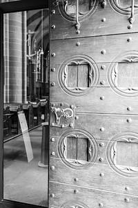 Eingangstür in den Dom, Wetzlar, Lahn-Dill-Kreis, Hessen, Deutschland