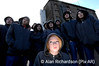 Pic Alan Richardson Dundee Pix-AR.co.uk <br /> (Front) Ella Duncan who plays Tasha. A hoodie gang of Dundee Rep Youth Theatre Company were at City Quay yesterday to promote their latest production The Children, by one of Britain's leading playwrights Edward Bond. In a unique collaboration Dundee Rep Youth Theatre Company and Dundee Rep Ensemble join forces in an innovative co-production later this month. Directed by Dundee Rep's Associate Director Sarah Brigham and Dundee Youth Theatre Company member Lisa Williamson, The Children is the first major production between two of Dundee Rep's award winning companies. Dundee Rep Ensemble members Irene MacDougall and Robert Paterson will tread the boards with the Rep Youth Theatre Company in a gritty tale of a teenager's unquestioning loyalty to his mother which has fatal consequences. The Children will run from 17 to 19 January 2008, 40 years after the abolition of stage censorship in which Edward Bond was instrumental.