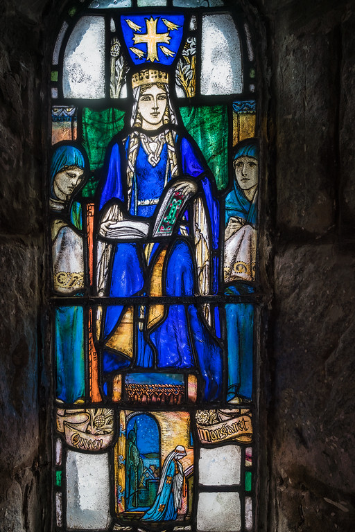 Stained glass window in St. Margaret's Chapel