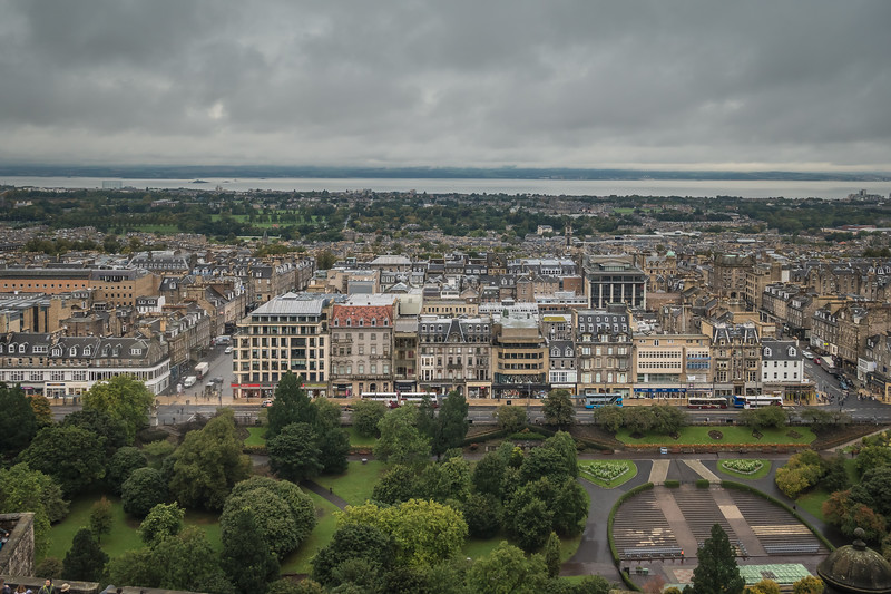 City of Edinburgh as seen from the castle