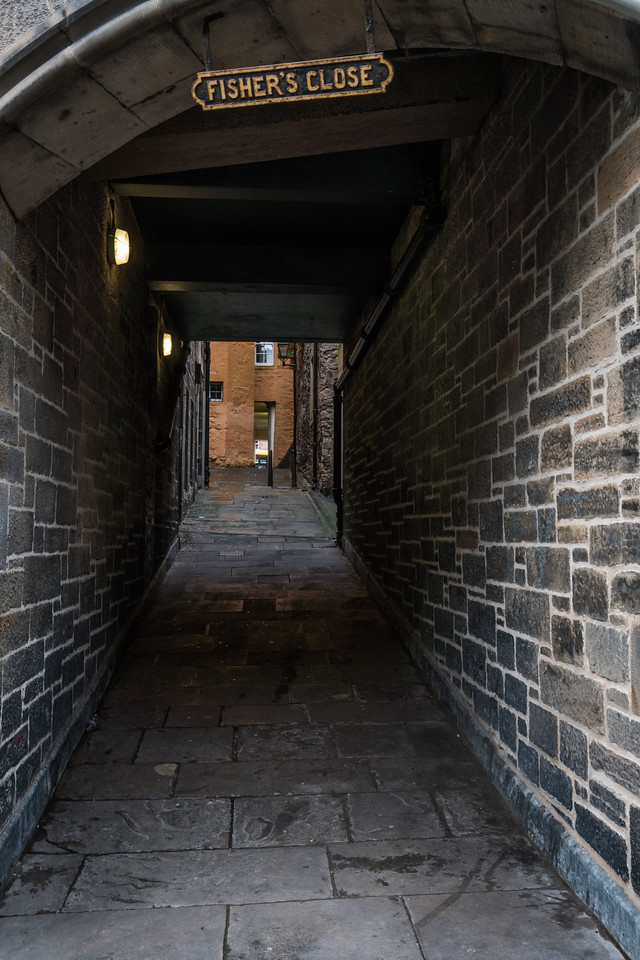 Fisher's Close in Old Town Edinburgh