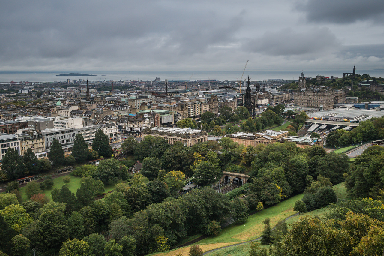 New Town as seen from Edinburgh Castle