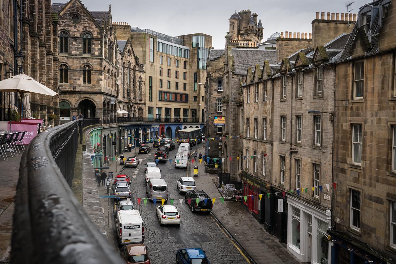 Small street in Edinburgh