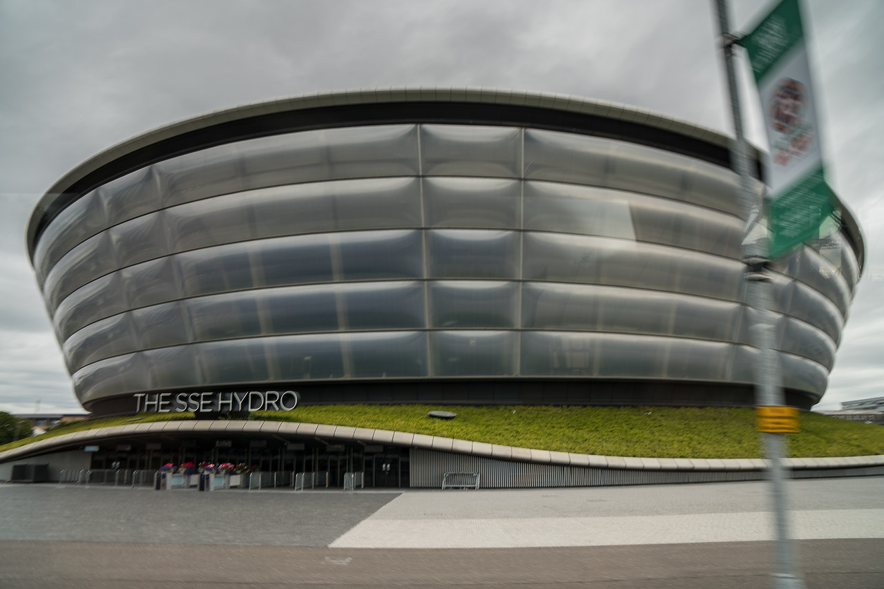SSE Hydro, a multi-purpose indoor arena, in Glasgow. It officially opened in September 2013.