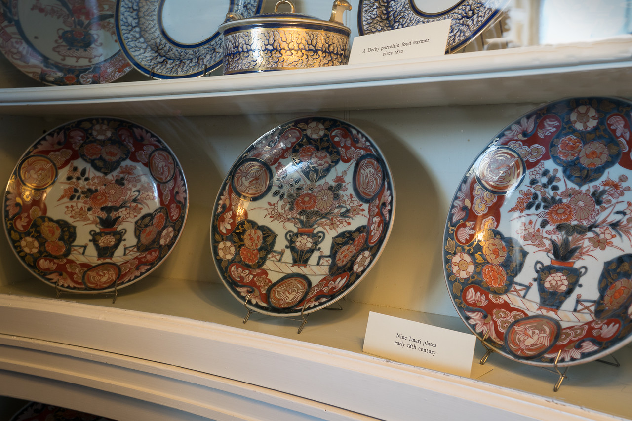 Imari Plates, just part of the china on display in the China Turret