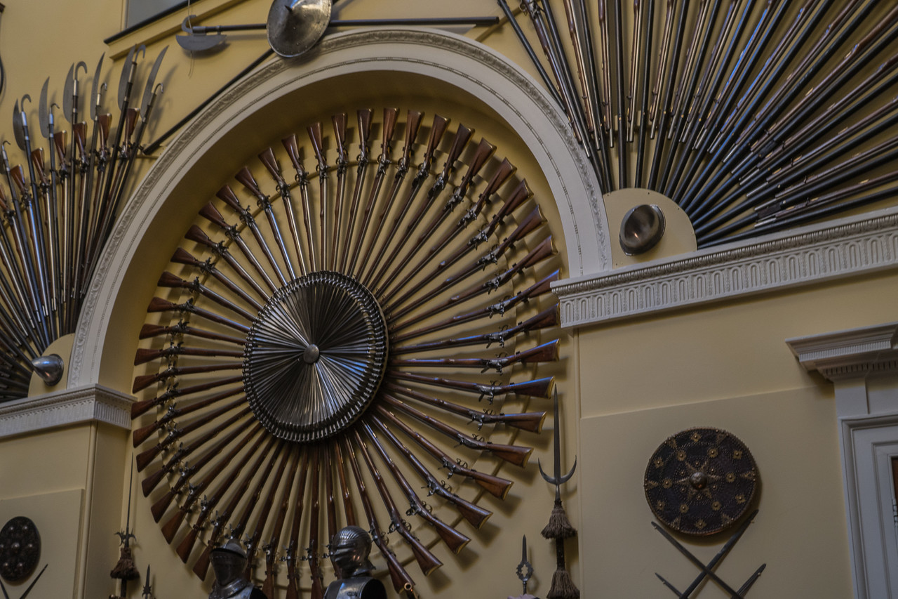A small section of Armoury Hall at Inveraray Castle