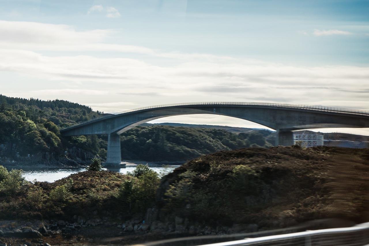 Skye Bridge as seen from the bus