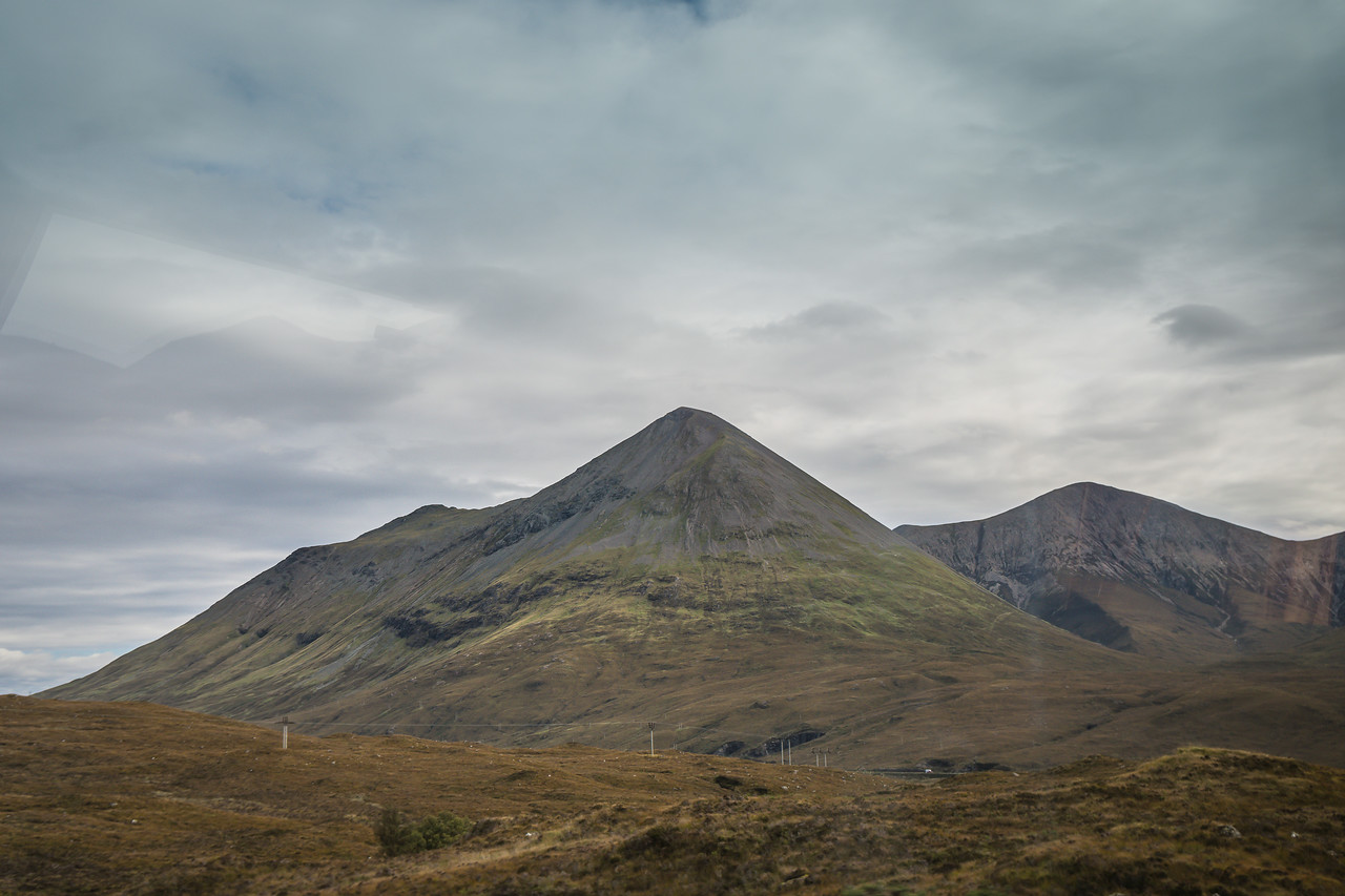The tall, pointy mountains on the Isle of Skye