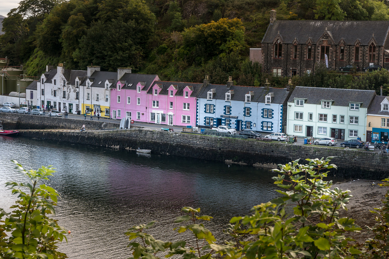 Color houses in Portree on the Isle of Skye