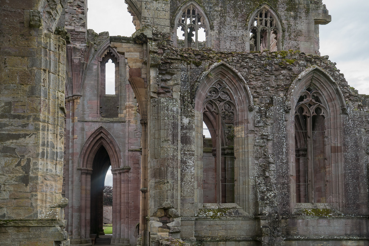 Melrose Abbey transept wall