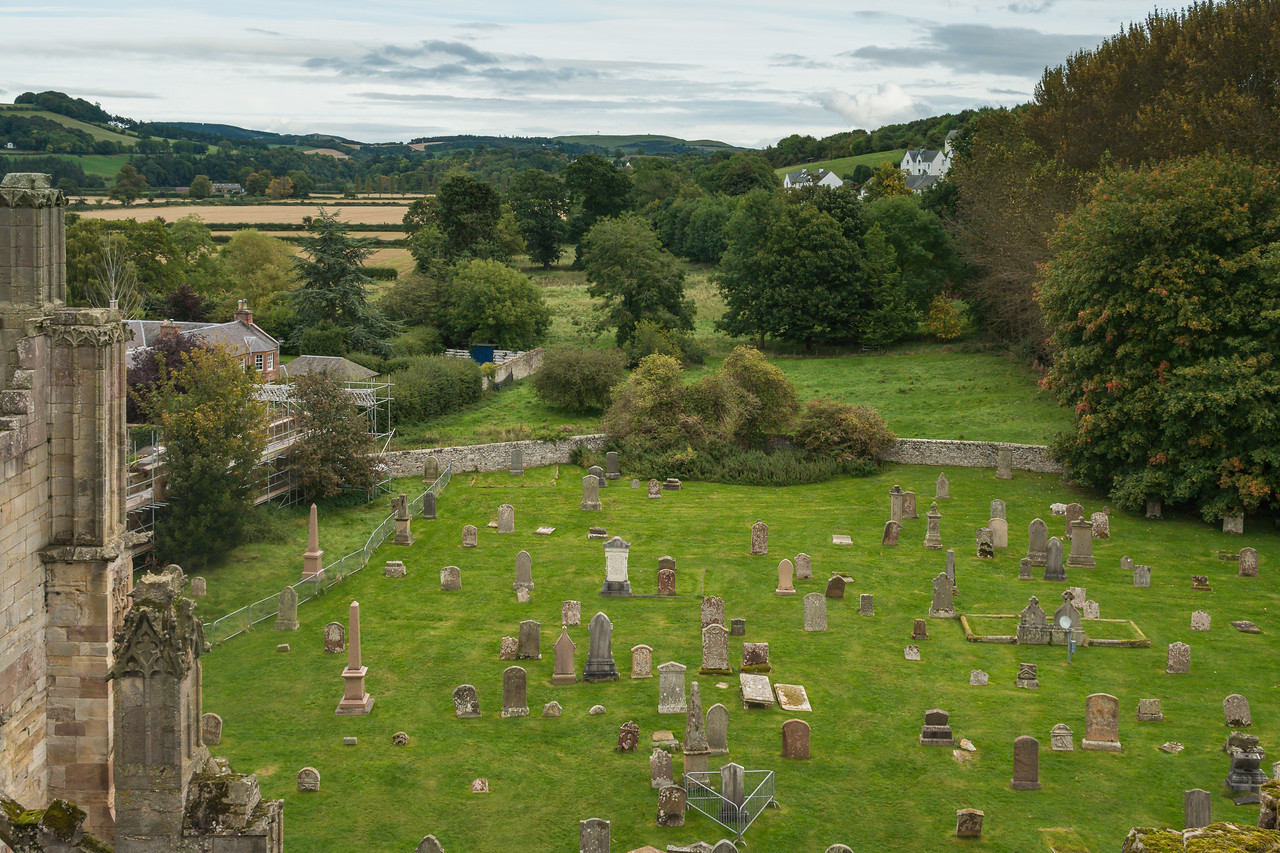 Cemetery at Melrose Abbey