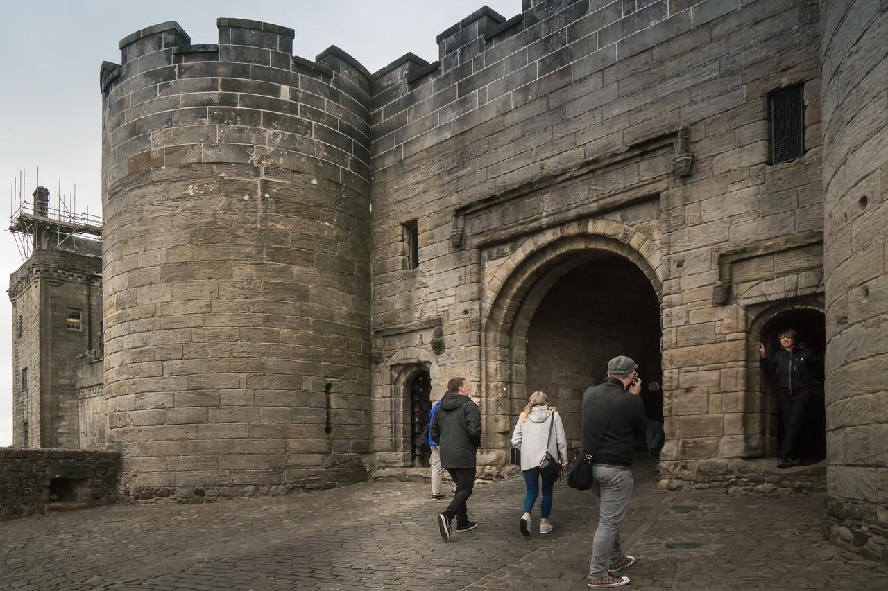 Visitors entering Stirling Castle