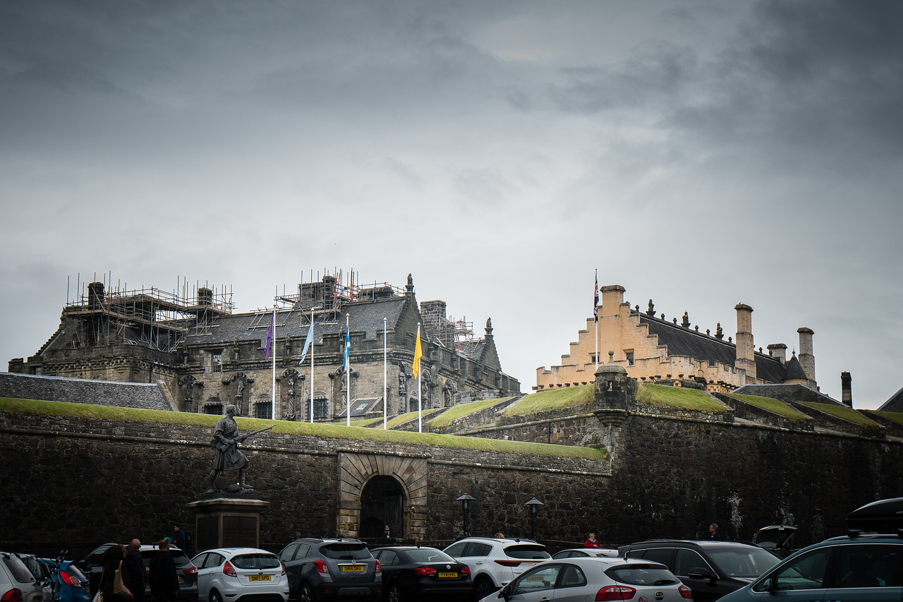 A view of Stirling Castle from the car park