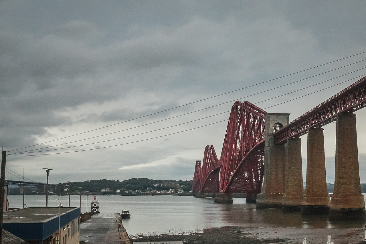 The Pier at Queensferry and the Forth Bridge