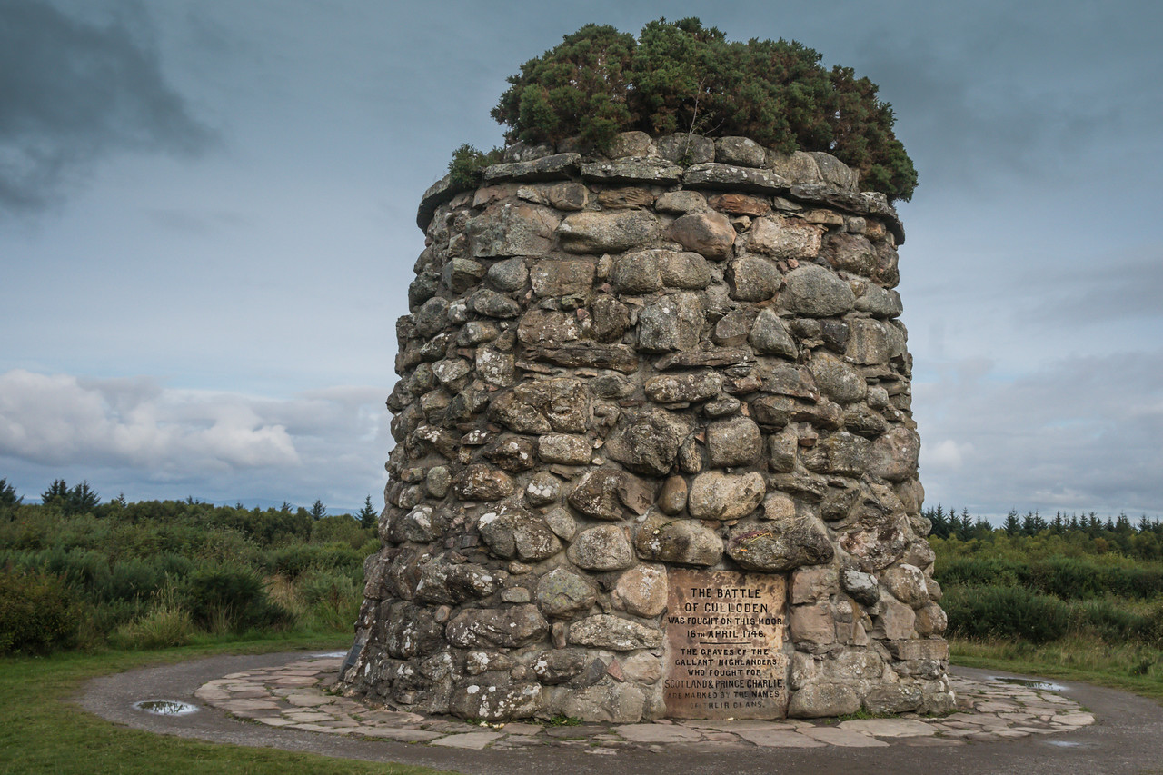 Memorial Cairn at the Battlefield of Culloden
