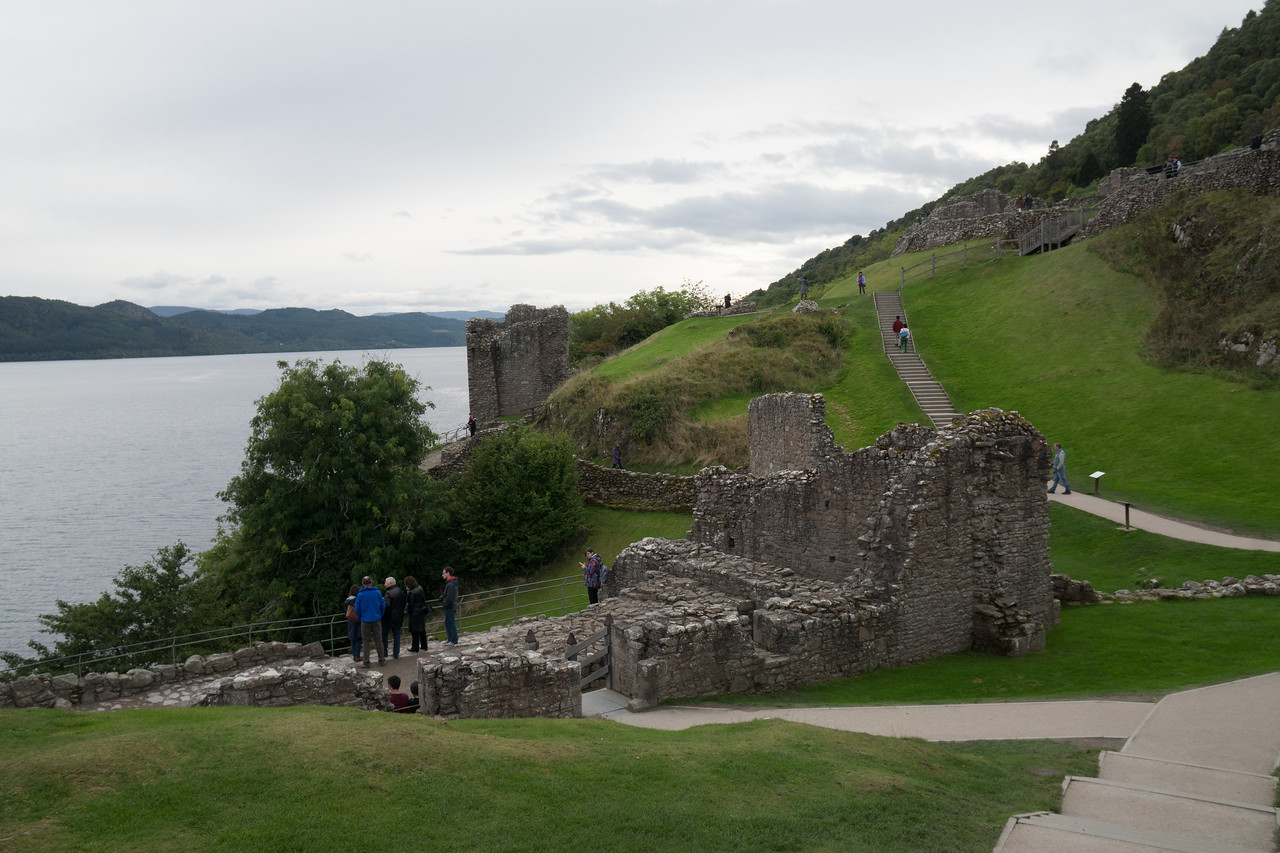 Urquhart Castle as seen from Grant Tower