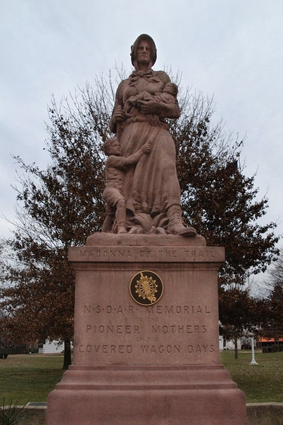 A monument to pioneer mothers in front of the Capital Building
