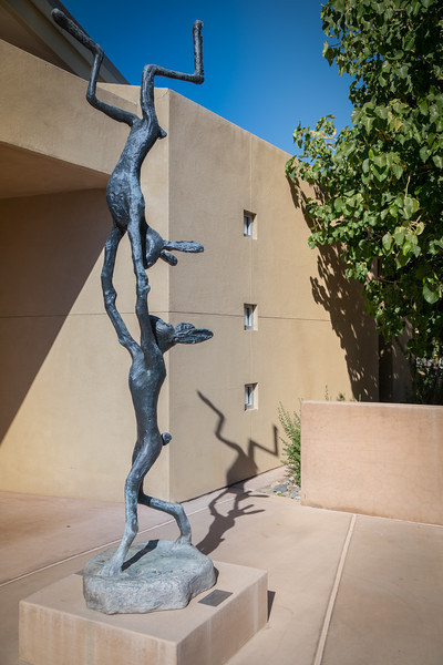 "Bronze sculpture titled ""Acrobats"" by Barry Flanagan"