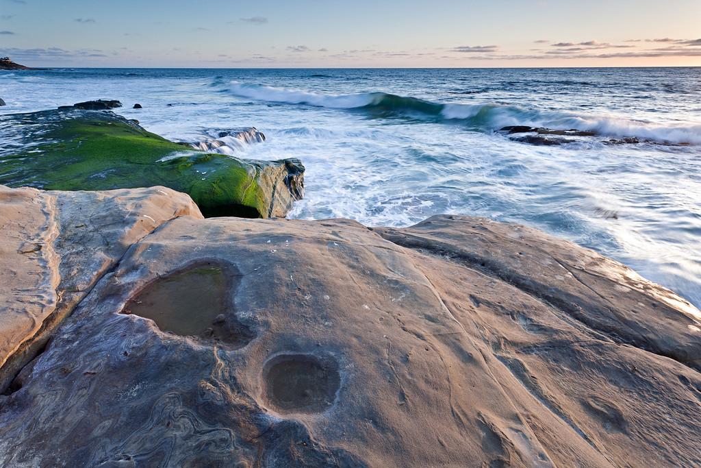 Windansea beach, in La Jolla, CA, is a very nice spot for photography.