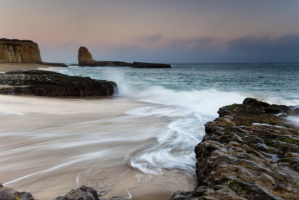 4 Mile Beach, just north of Santa Cruz, is a fantastic spot to photograph the sunset.