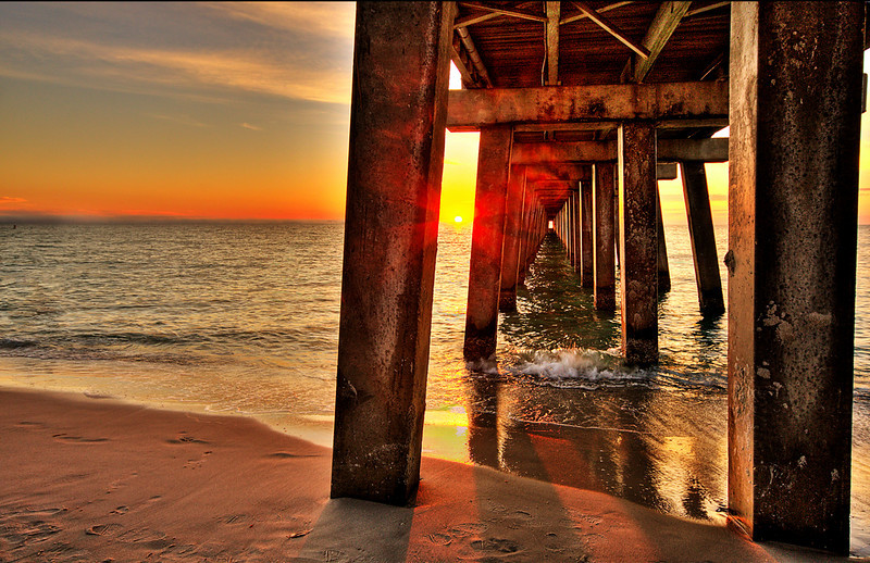 Sunset Perspective<br /> Pier Naples Florida